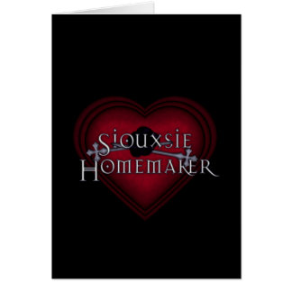 Siouxsie Homemaker Knitting (Red) Card