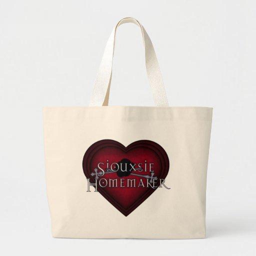 Siouxsie Homemaker Knitting (Red) Jumbo Tote Bag