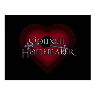 Siouxsie Homemaker Knitting (Red) Postcard