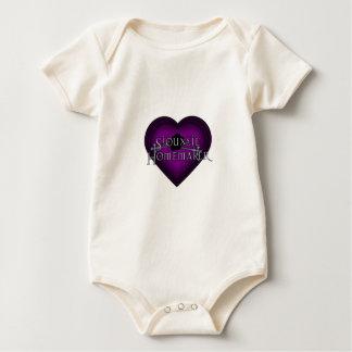 Siouxsie Homemaker Knitting (Violet) Baby Bodysuit