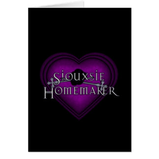 Siouxsie Homemaker Knitting (Violet) Card
