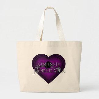 Siouxsie Homemaker Knitting (Violet) Large Tote Bag