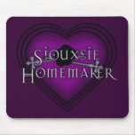 Siouxsie Homemaker Knitting (Violet) Mouse Pad