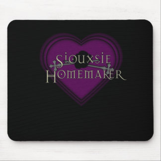 Siouxsie Homemaker Purple Heart Mouse Pad
