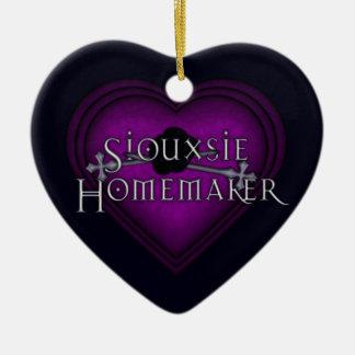 Siouxsie Homemaker Purple Knitting Ceramic Ornament