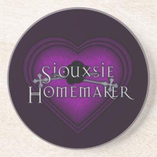 Siouxsie Homemaker Purple Knitting Drink Coaster
