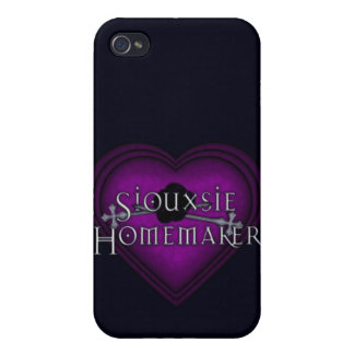 Siouxsie Homemaker Purple Knitting iPhone 4 Case