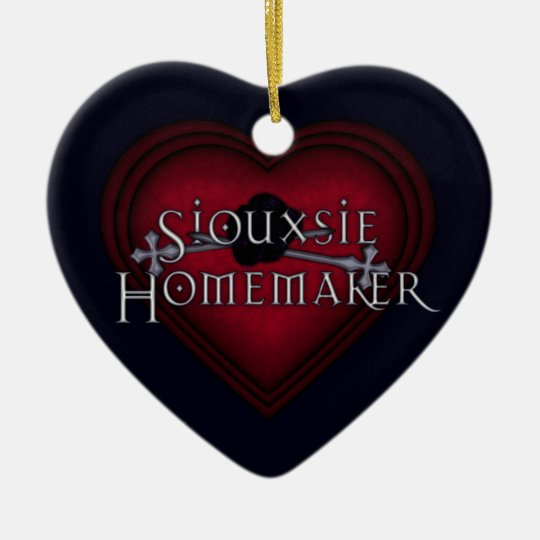 Siouxsie Homemaker Red Knitting Ceramic Ornament