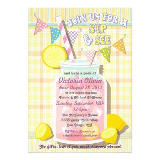 Sip and See Baby Mason Jar Invitation