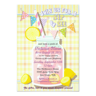 Sip and See Baby Mason Jar Invitation