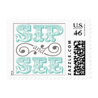 Sip And See Baby Party Postage Stamp