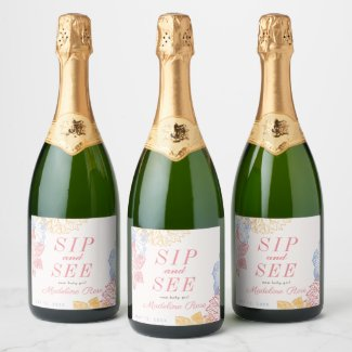 Sip and See Champagne Label