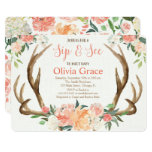 Sip and See girl baby shower invitation meet greet