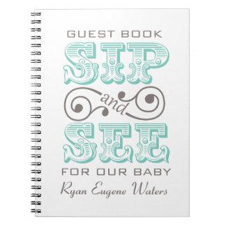 Sip And See Guest Book Keepsake