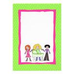 Sip and See Invitation - Pink & Green