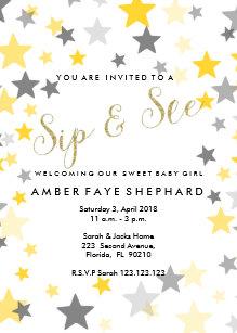 meet and greet baby invitations zazzle