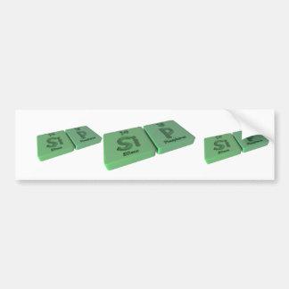 Sip as Si Silicon and P Phosphorus Bumper Sticker