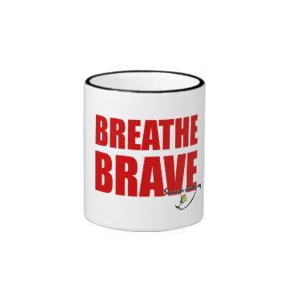 Sip & Breathe Brave - Survivor Jewelry Ringer Mug