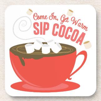 Sip Cocoa Drink Coaster