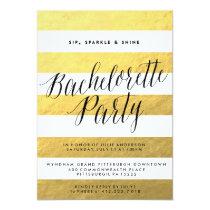 SIP, SPARKLE, SHINE BACHELORETTE PARTY invitation