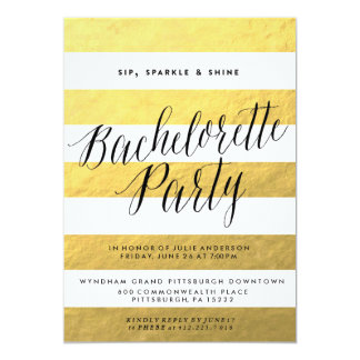 SIP, SPARKLE, SHINE BACHELORETTE PARTY Invitation