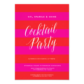 Sip, Sparkle, Shine, Holiday Party Invitation