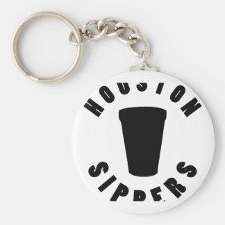 Sippers de Houston Llavero Redondo Tipo Pin
