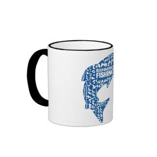 Sippin' and fishin' ringer coffee mug