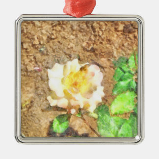 Sipping away at pollen metal ornament