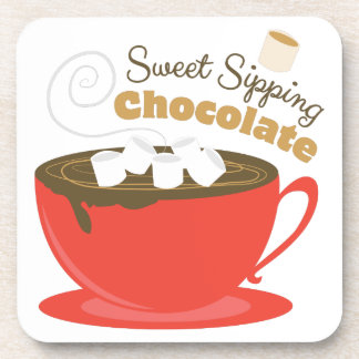 Sipping Chocolate Beverage Coaster