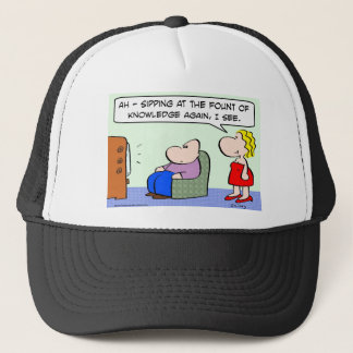 sipping fount knowledge tv trucker hat