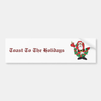 Sipping Santa Bumper Sticker