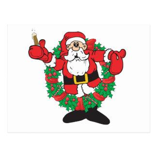 Sipping Santa Postcard