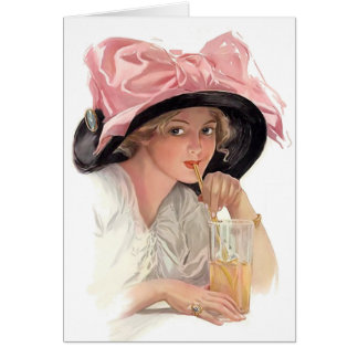 Sipping Soda Greeting Cards