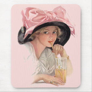 Sipping Soda Mouse Pad