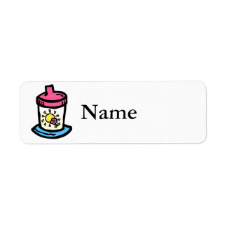 sippy cup label