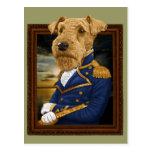 Sir Airedale Terrier Postales
