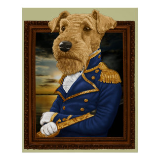 Sir Airedale Terrier Póster