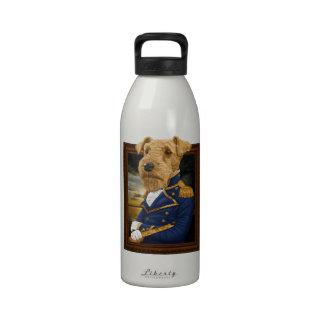 Sir Airedale Terrier Reusable Water Bottles