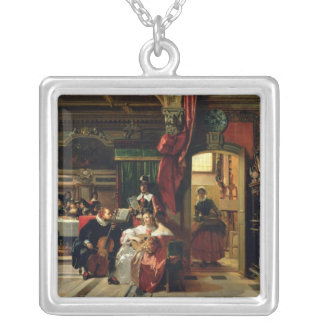 Sir Anthony van Dyck  in London, 1837 Silver Plated Necklace