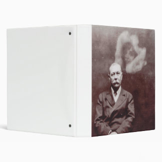 Sir Arthur Conan Doyle with Ghost by Ada Deane 3 Ring Binder