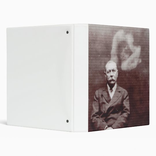 Sir Arthur Conan Doyle with Ghost by Ada Deane 3 Ring Binder