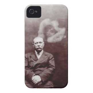 Sir Arthur Conan Doyle with Ghost by Ada Deane iPhone 4 Case-Mate Case