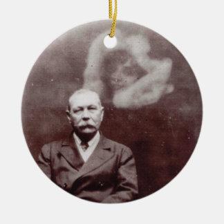 Sir Arthur Conan Doyle with Ghost by Ada Deane Ceramic Ornament