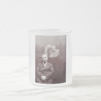 Sir Arthur Conan Doyle with Ghost by Ada Deane Frosted Glass Coffee Mug