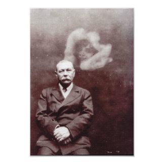 Sir Arthur Conan Doyle with Ghost by Ada Deane 3.5x5 Paper Invitation Card