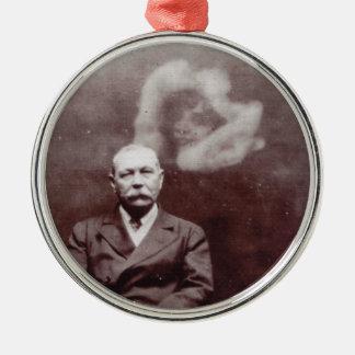 Sir Arthur Conan Doyle with Ghost by Ada Deane Metal Ornament