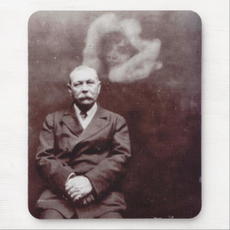 Sir Arthur Conan Doyle with Ghost by Ada Deane Mouse Pad