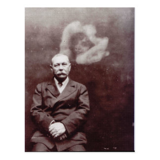 Sir Arthur Conan Doyle with Ghost by Ada Deane Postcard