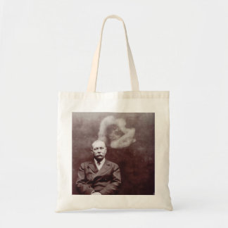 Sir Arthur Conan Doyle with Ghost by Ada Deane Tote Bag